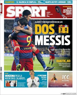 Portada Sport: Dos Mesiss
