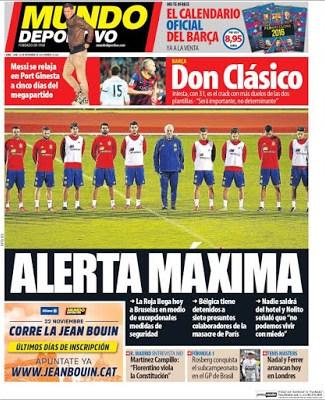 Portada Mundo Deportivo: alerta máxima
