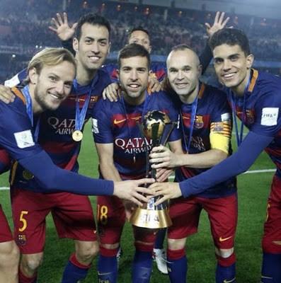 El Barça festeja el Mundial de Clubes en Instagram rakitic iniesta busquets