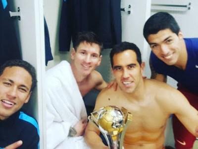 El Barça festeja el Mundial de Clubes en Instagram neymar messi bravo suarez