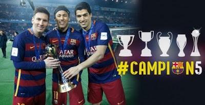 Las mejores imágenes del Barcelona Campeón del Mundo 2015 messi suarez y neymar