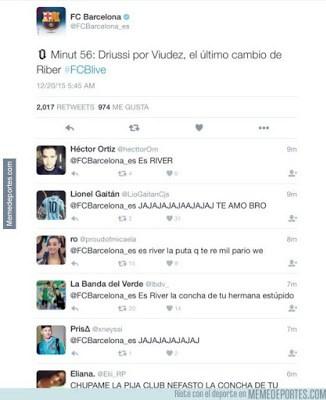 Los mejores memes del River-Barcelona. Mundial de Clubes riber