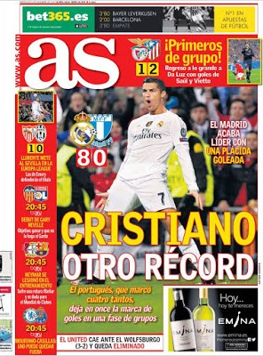 Portada AS: Cristiano récord