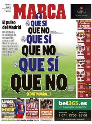 Portada Marca: Que si, que no sorteo eurocopa