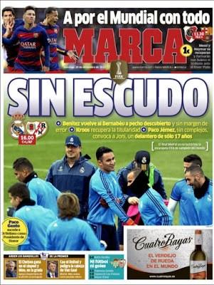 Portada Marca: Sin escudo real madrid
