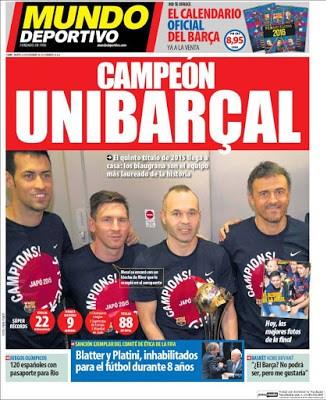 Portada Mundo Deportivo: Unibarçal