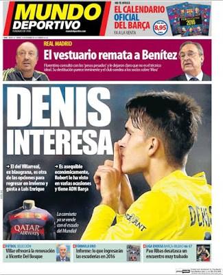 Portada Mundo Deportivo: Denis interesa