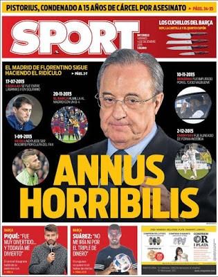 Portada Sport: Annus Horribilis madrid