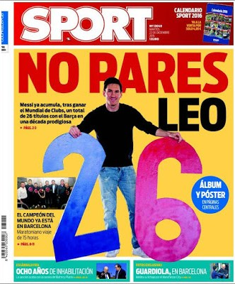 Portada Sport: Leo Messi 26