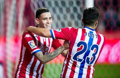 Sporting Gijón 5-Real Sociedad 1. Jornada 21 Liga Española