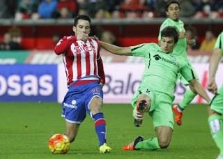 Sporting Gijón 1-Getafe 2. Jornada 18 Liga Española