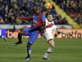 Levante 2-Rayo Vallecano 1. Jornada 19 Liga Española