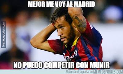 Los mejores memes del Málaga-Barcelona. Jornada 21 neymar