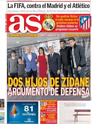 Portada AS: Dos hijos de Zidane