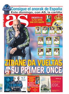 Portada AS: Zidane busca su once