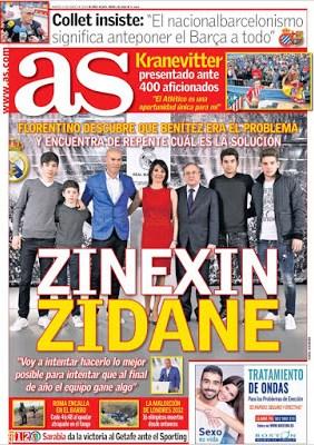 Portada AS: Zinedine Zidane