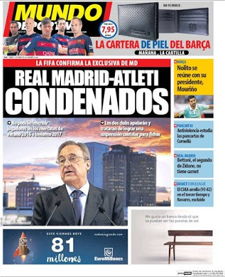 Portada Mundo Deportivo: Real Madrid-Atleti condenados