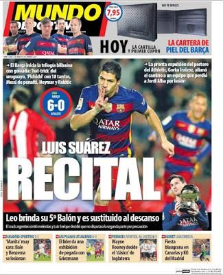 Portada Mundo Deportivo: recital Suárez