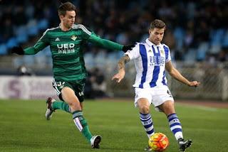 Real Sociedad 2-Betis 1. Jornada 22 Liga Española