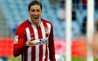 Getafe 0-Atlético Madrid 1. Jornada 24 Liga Española Fernando Torres festeja su gol
