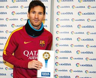 Lionel Messi mejor jugador y mejor gol del mes de enero de la Liga BBVA