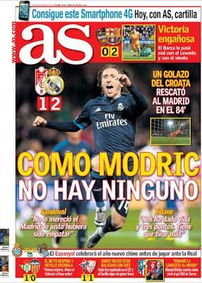 Portada AS: como Modric no hay ninguno
