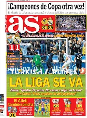 Portada AS: La Liga se va