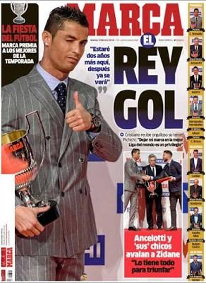 Portada Marca: Cristiano Ronaldo rey del gol