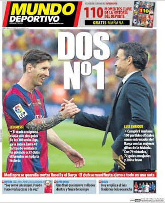 Portada Mundo Deportivo: leo y lucho