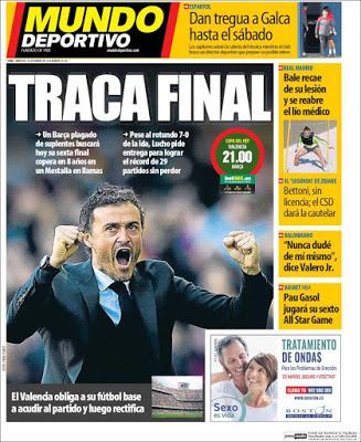 Portada Mundo Deportivo: traca final