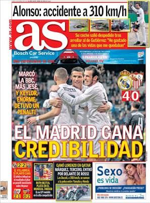 Portada AS: el Madrid gana credibilidad