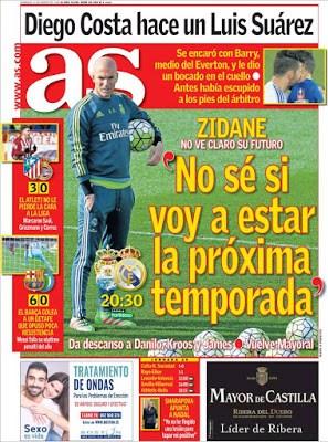 Portada AS: Zidane