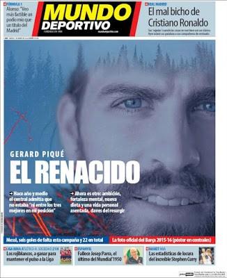 Portada Mundo Deportivo: Piqué el renacido