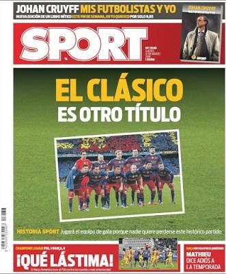 Portada Sport: el clásico es otro título