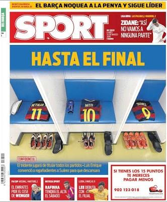 Portada Sport: Hasta el final