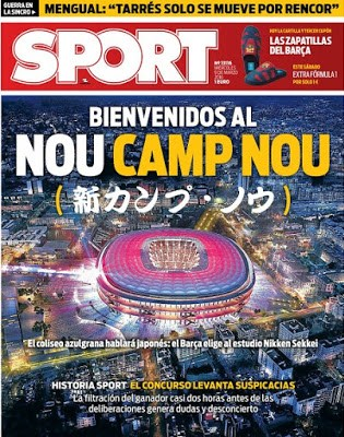 Portada Sport: el nuevo Camp Nou