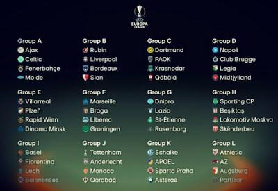 Calendario Europa League 2015-2016