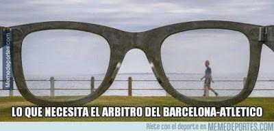Los memes del Barcelona-Atlético Madrid más divertidos: Cuartos Champions arbitro gafas
