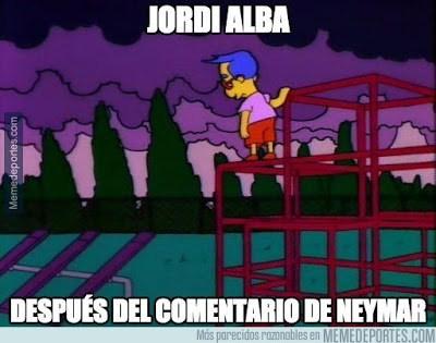 Los memes del Deportivo-Barcelona más divertidos. Liga BBVA jordi alba neymar