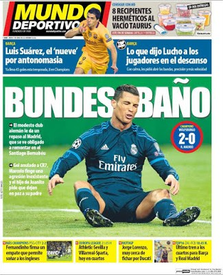 Portada Mundo Deportivo: Bundesbaño