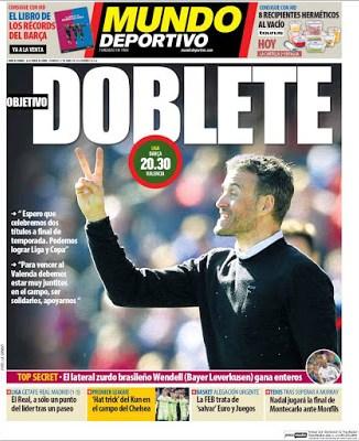 Portada Mundo Deportivo: Objetivo Doblete