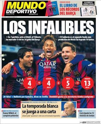Portada Mundo Deportivo: los infalibles