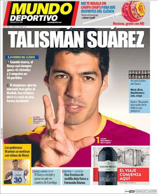 Portada Mundo Deportivo: talismán Suárez