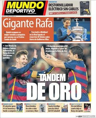 Portada Mundo Deportivo: dupla de oro