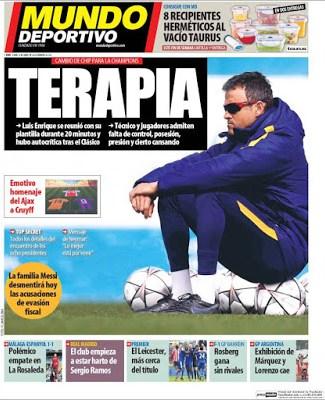 Portada Mundo Deportivo: Barça terapia