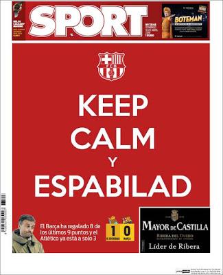 Portada Sport: Keep Calm y Espabilad