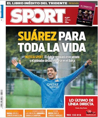 Portada Sport: Suárez para toda la vida