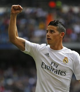 Real Madrid 4-Eibar 0. Jornada 32 Liga Española james rodriguez gol