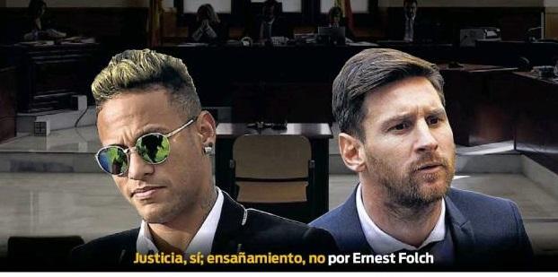 Neymar y Messi ante la justicia