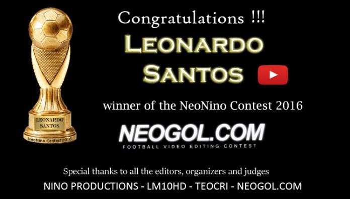 Leonardo Santos ganador NeoNino Contest 2016